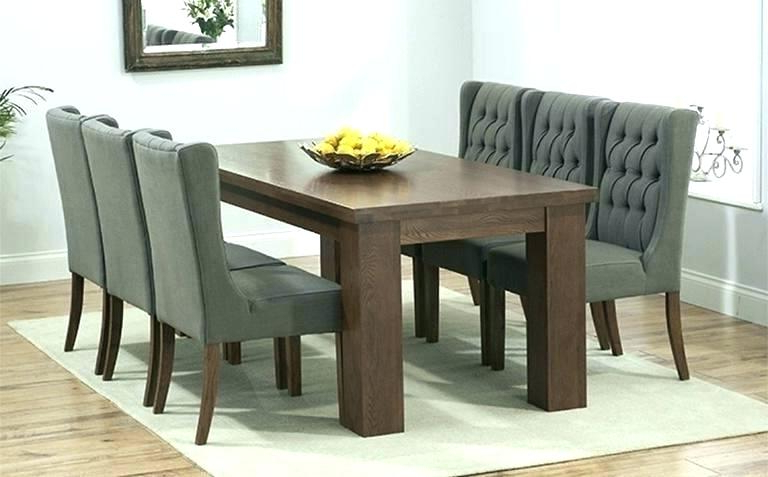 Dark Wood Dining Tables 6 Chairs For Popular Black And Wood Dining Table Attractive Black And Wood Dining Table (View 14 of 20)