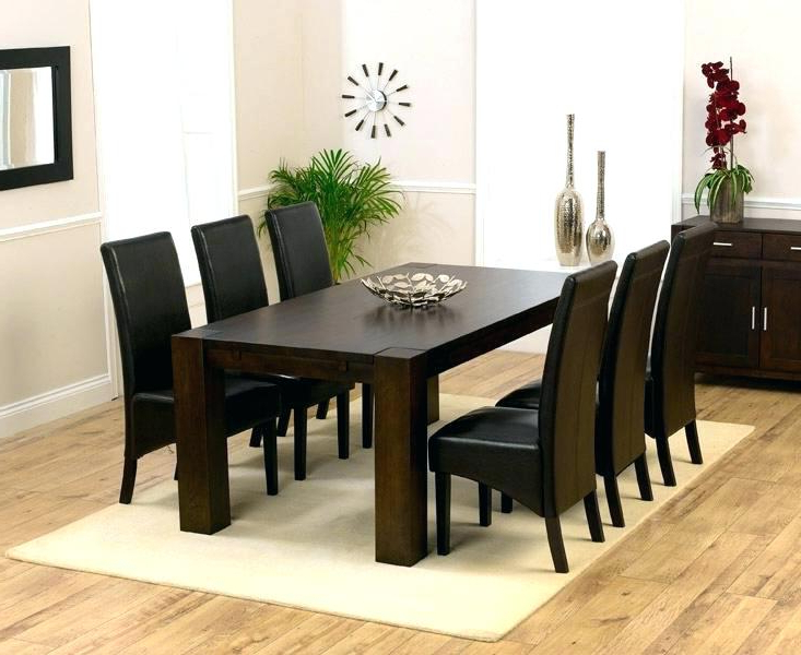 Dark Wood Dining Tables And 6 Chairs Regarding Well Liked Wooden Dining Table And Chairs Wood Set Of 6 Furniture – Shesallwrite (View 16 of 20)