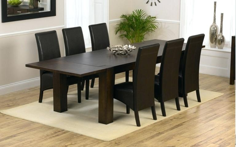 Dark Wood Dining Tables And 6 Chairs With Most Recent Decoration: Dining Tables Dark Wood Table Modern  (View 7 of 20)