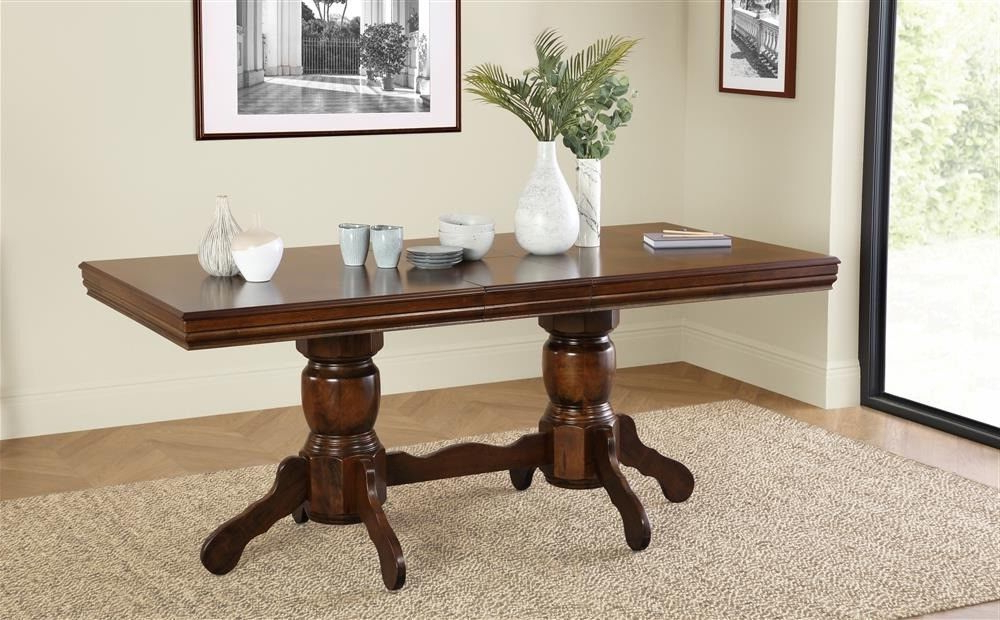 Dark Wood Extending Dining Tables With Regard To Well Liked New Dark Wood Extending Dining Table — 150 – 180Cm (View 8 of 20)