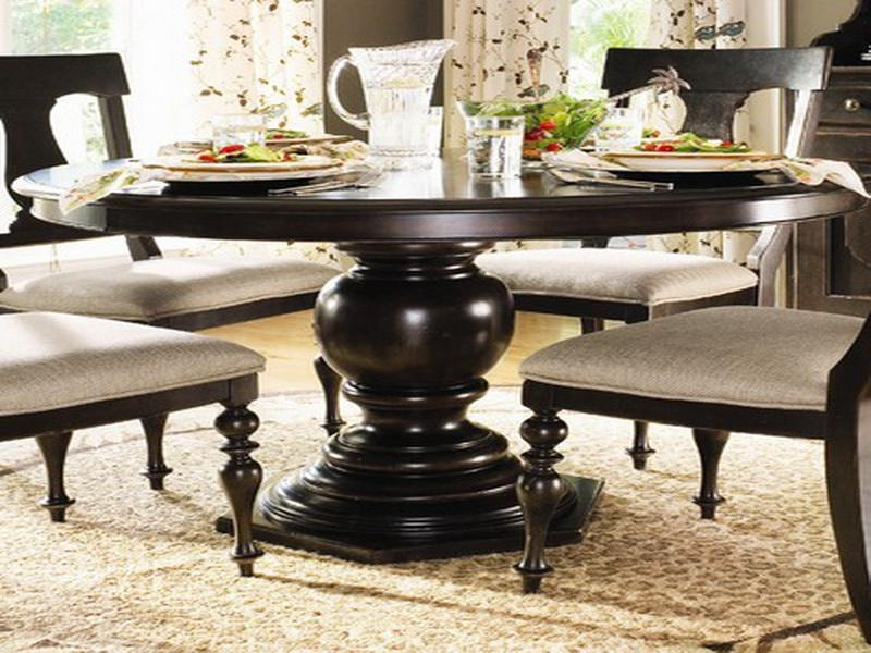 Dark Wood Round Dining Table Dark Wood Round Dining Table Set For Most Recently Released Dark Round Dining Tables (View 10 of 20)