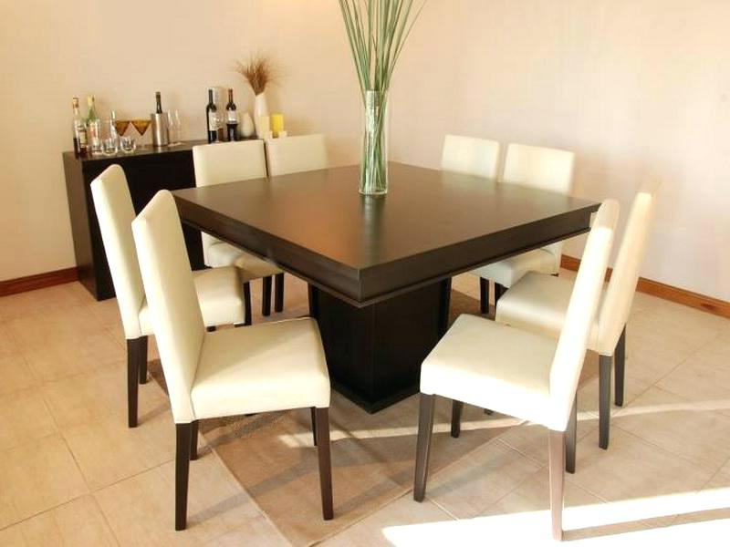 Dark Wood Square Dining Tables Inside Most Popular Modern Square Dining Table Sofa Glamorous Modern Square Dining (View 8 of 20)