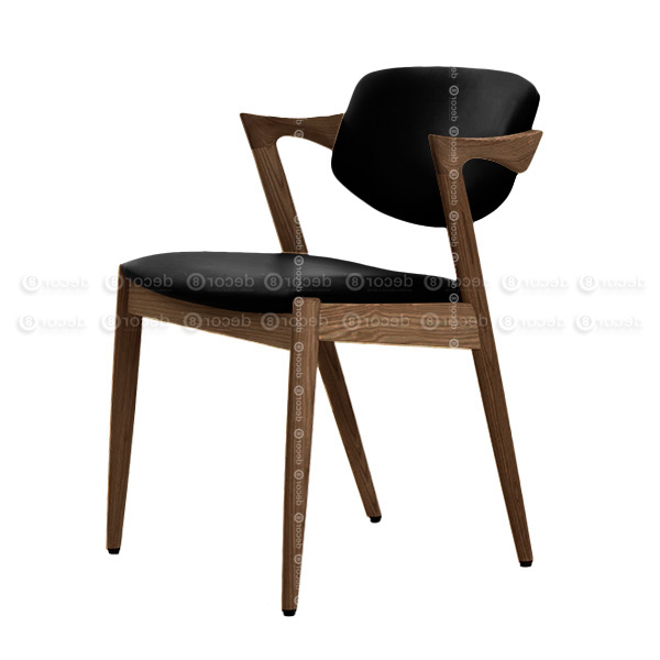 Decor8 Modern Furniture Kai Oak Walnut Dining Chair – Solid Wood Regarding Widely Used Oak Leather Dining Chairs (View 8 of 20)