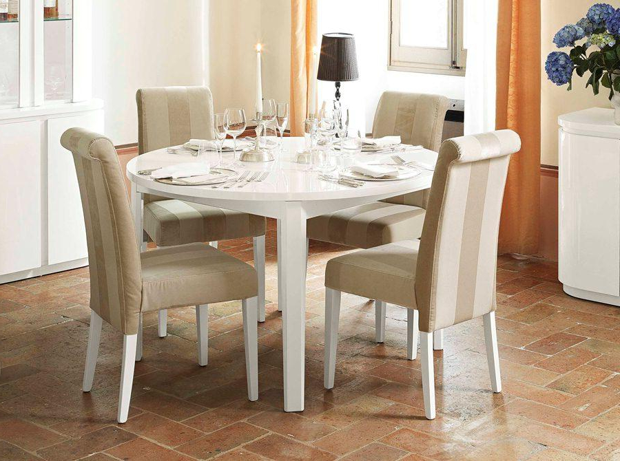 Decorating Ideas Regarding White Round Extending Dining Tables (Gallery 18 of 20)