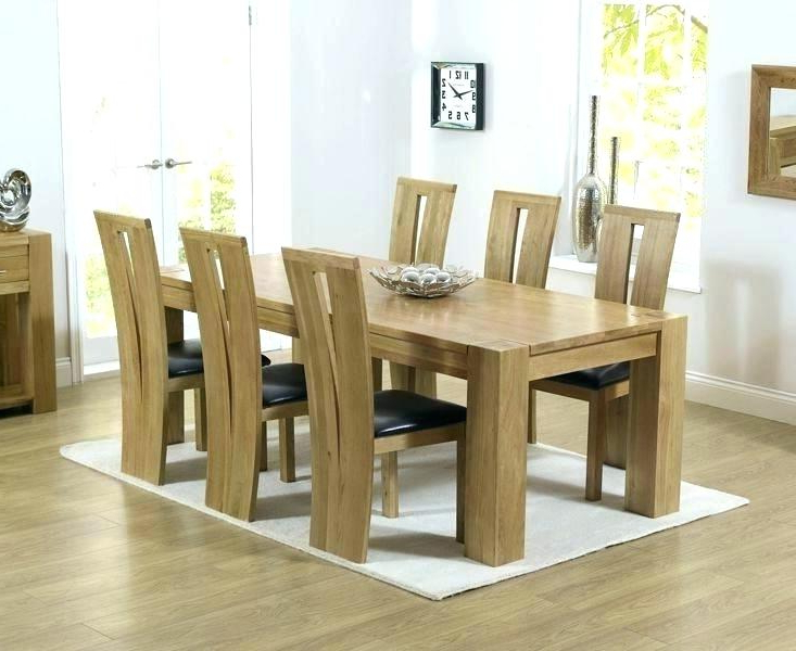 Decoration: 6 Chair Dining Set Chairs Room Table And Oak Extending Intended For Newest Oak Extending Dining Tables And 6 Chairs (View 5 of 20)