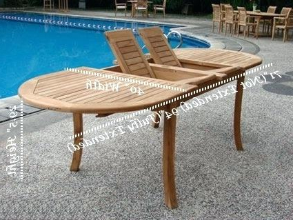 Decoration: Expandable Outdoor Dining Table Regarding Latest Outdoor Extendable Dining Tables (Gallery 5 of 20)