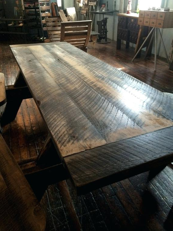 Decoration: Picnic Style Dining Table Intended For Well Liked Indoor Picnic Style Dining Tables (View 10 of 20)