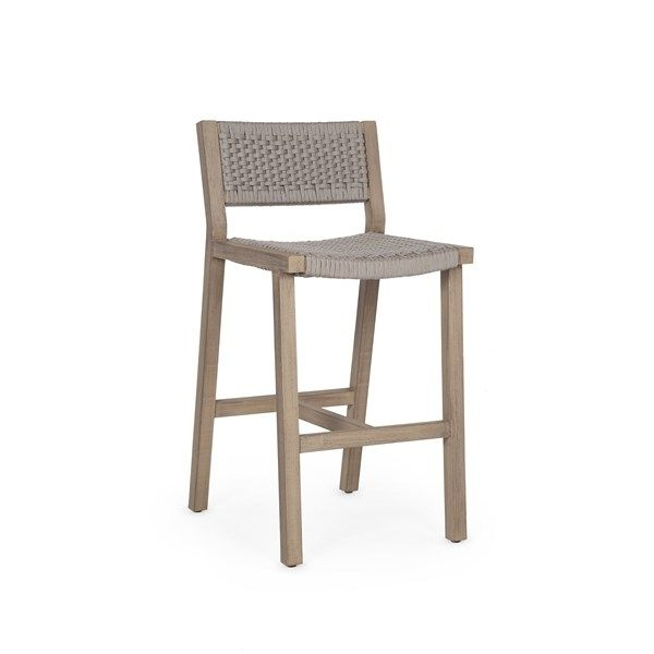 Delano Outdoor Bar Stool Washed Brown (View 5 of 20)