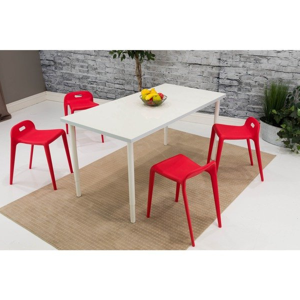 Delfina 7 Piece Dining Sets Inside Well Known Shop Somette Red Backless Dining Chair (set Of 4) – Free Shipping (View 5 of 20)