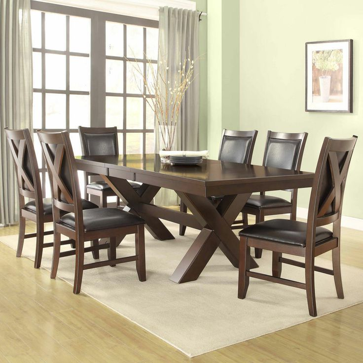 Delfina 7 Piece Dining Sets With Most Up To Date Coral Walnut 7 Piece Extending Table Dining Set – $1000 60 78 Inches (View 2 of 20)