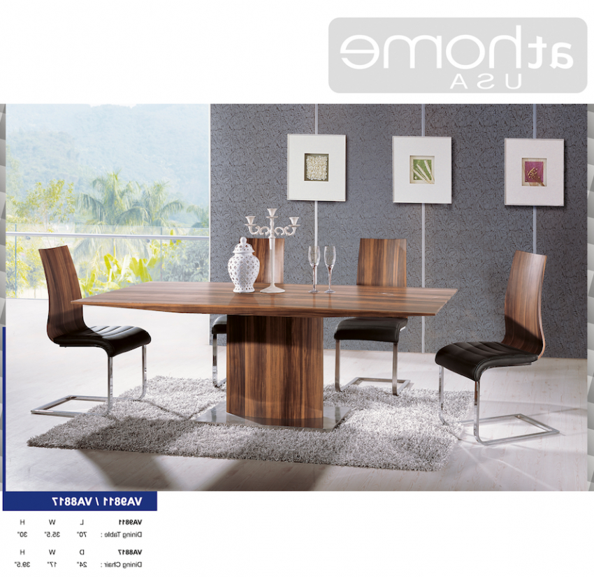 Delfina Dining Tables Within Popular Delfina Veneer Dining Chair Set Of 2At Home Usa – Dining Chairs (View 9 of 20)