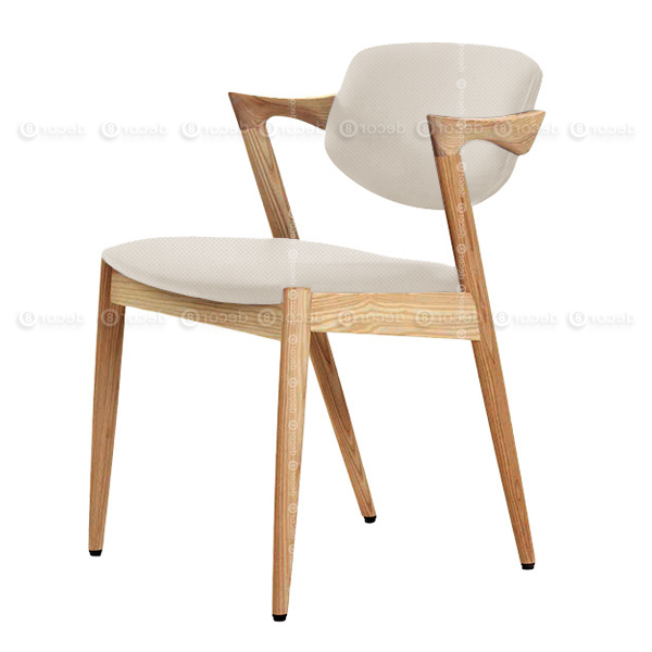Designer Chair Hong Kong – Kai Oak Fabric Dining Chair – Oak Finish Inside 2018 Oak Fabric Dining Chairs (View 3 of 20)