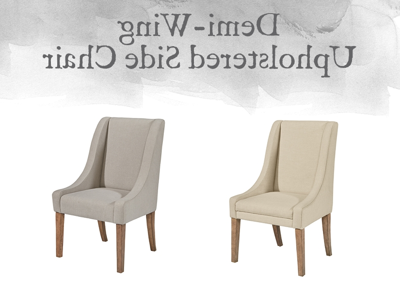 Featured Photo of Magnolia Home Demi Flannel Wing Side Chairs