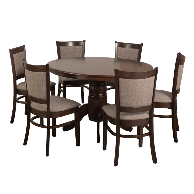 Dining Chairs Pertaining To 2018 Oliver 120Cm Dining Table & 6X Mandy Dining Chairs • Decofurn (Gallery 19 of 20)