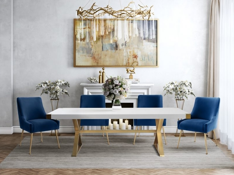 Dining Chairs With Blue Loose Seat Within Fashionable Dining Chair : Seat Cushions For Dining Room Chairs Red Fabric (View 12 of 20)
