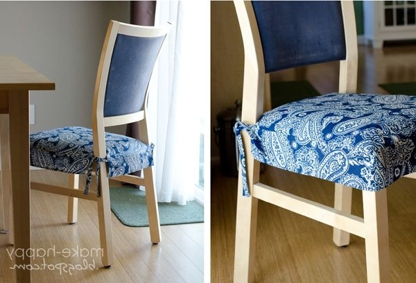 Dining Chairs With Blue Loose Seat Within Most Recently Released Kitchen Chair Slipcovers So I Can Save My Chairs From My Kids And (View 3 of 20)