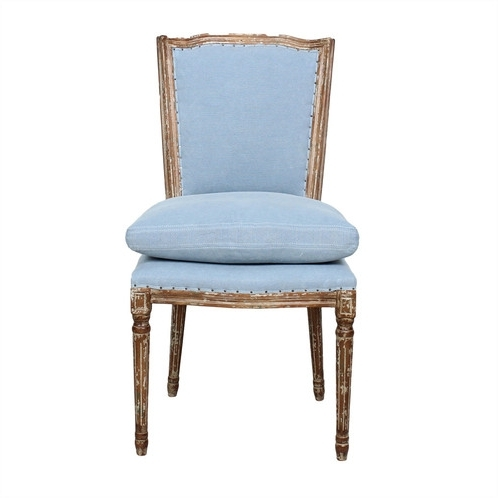 Dining Chairs With Blue Loose Seat Within Well Known Ethan Dining Chair – Dusty Blue, Cloud Pink (View 7 of 20)