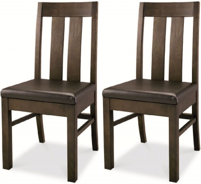 Dining Chairs With Regard To Trendy Buy Bentley Designs Lyon Walnut Brown Faux Leather Slatted Dining (View 6 of 20)