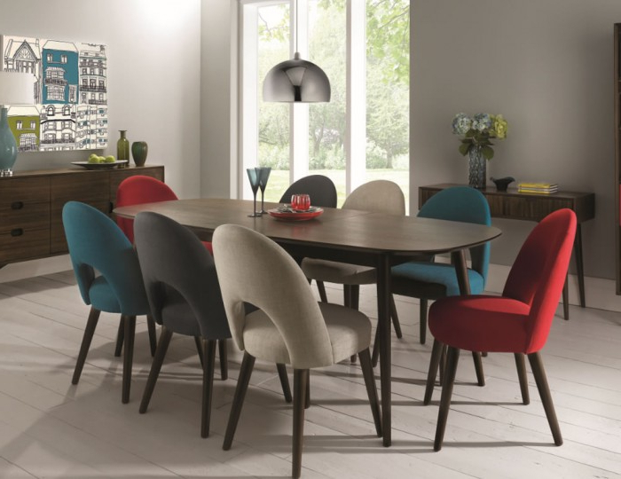 Dining Extending Tables And Chairs Inside 2018 Oslo Walnut Extending Dining Table And Chairs (View 12 of 20)