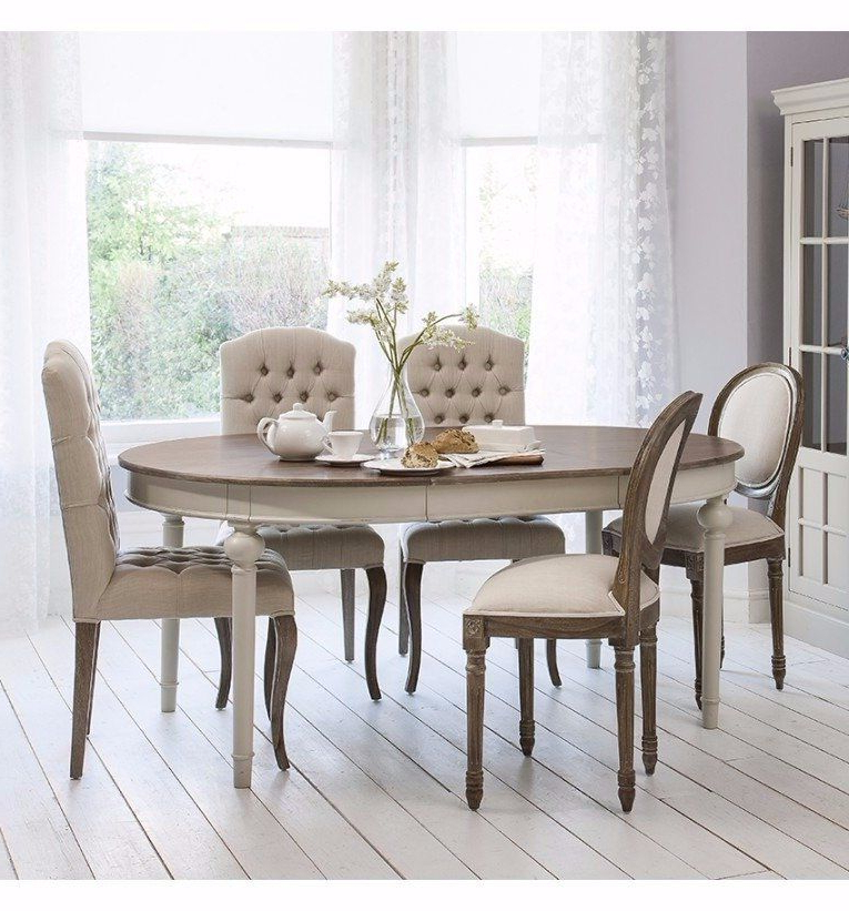 Dining Extending Tables And Chairs Within Trendy Smiths Maison Round Extending Table Cool Grey – Dining Tables (Gallery 11 of 20)