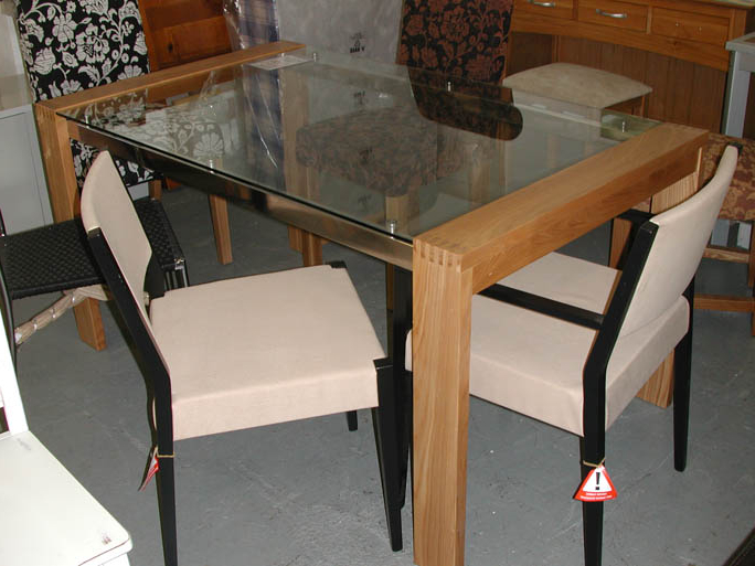 Dining Furniture Pertaining To Popular Glass Oak Dining Tables (View 5 of 20)