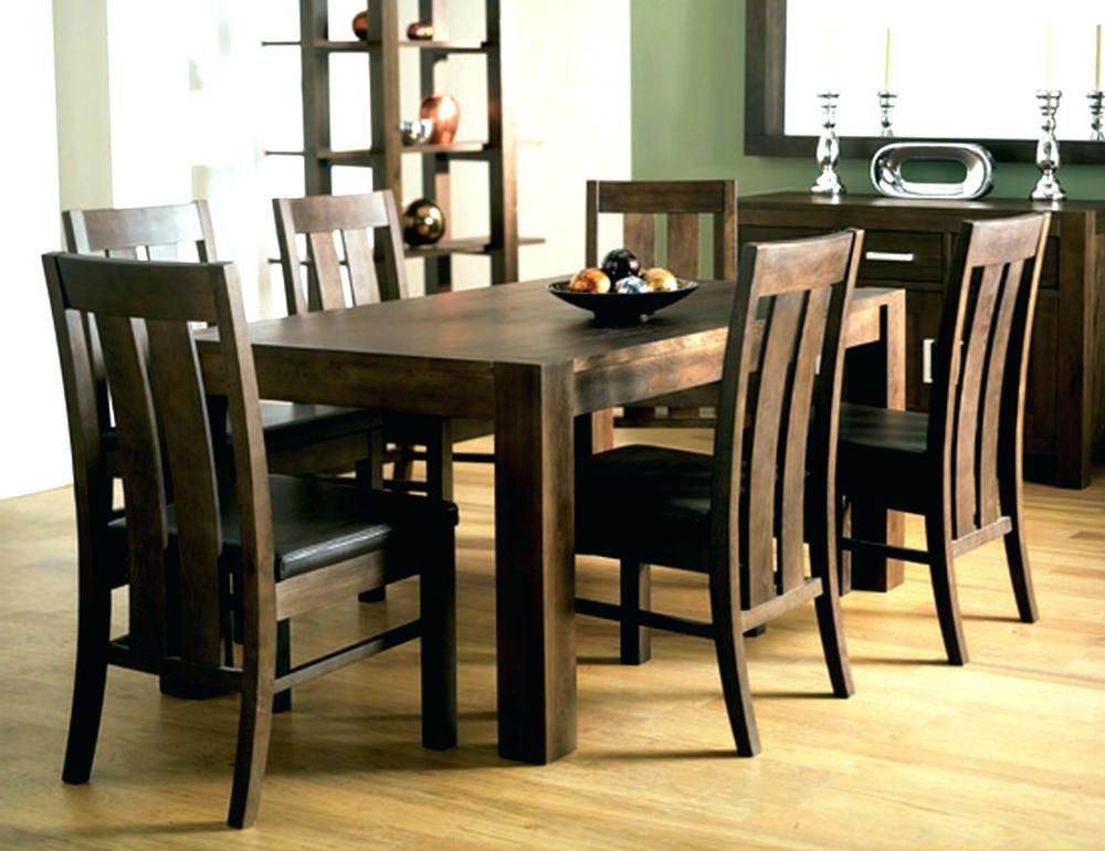 Dining Room 6 Chairs Round Table That Seats 6 Black Extendable Inside Most Popular Walnut Dining Tables And 6 Chairs (View 10 of 20)