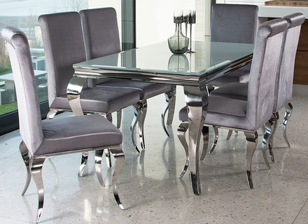 Dining Room: Black And White Contemporary Dining Chairs With Chrome Regarding Most Up To Date Chrome Dining Room Chairs (View 16 of 20)