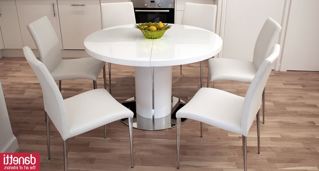 Dining Room: Cheap White Round Dining Table Including Modern White For Favorite White Circular Dining Tables (View 5 of 20)