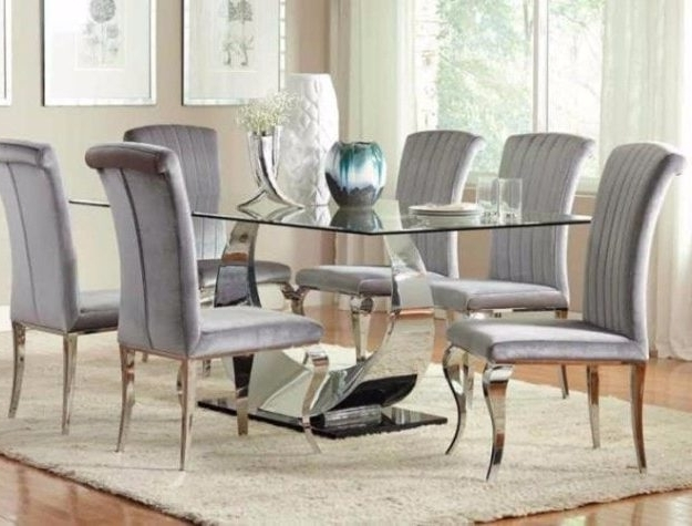 Dining Room Furniture – Bellagio Furniture And Mattress Store Inside 2018 Chrome Dining Room Chairs (View 7 of 20)