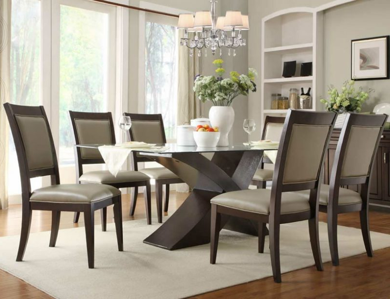 Dining Room Glass Tables Sets In 2017 Dining Room Chairs For A Glass Table Glass Table Dining Table Round (View 5 of 20)