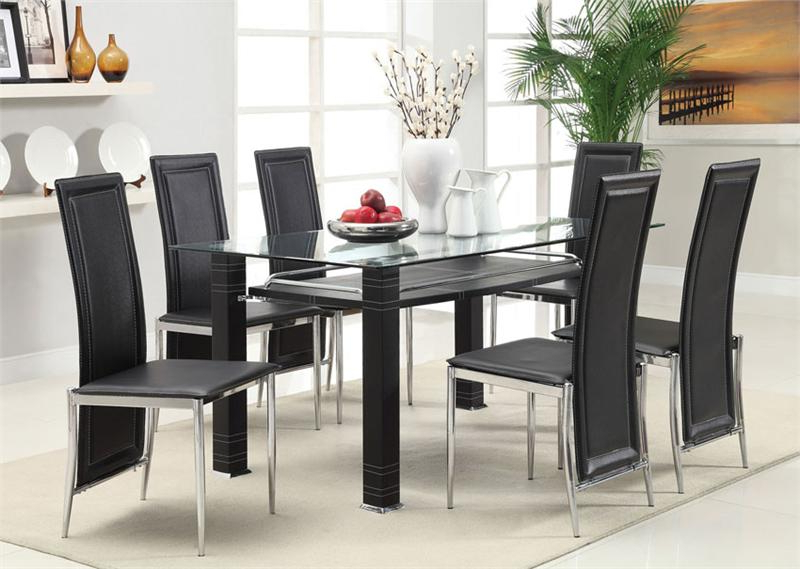 Dining Room Glass Tables Sets In Well Liked Divo 7Pc Table & Chair – Fair Price (View 6 of 20)
