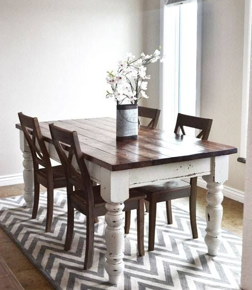 Dining Room In 2018 With Regard To Most Current Dining Tables With White Legs And Wooden Top (View 2 of 20)