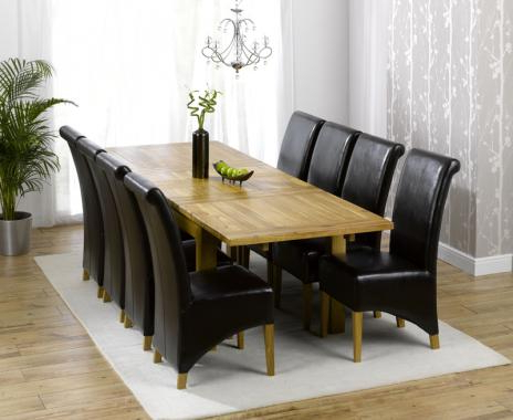 Dining Room Intended For Well Known Solid Oak Dining Tables And 8 Chairs (View 12 of 20)