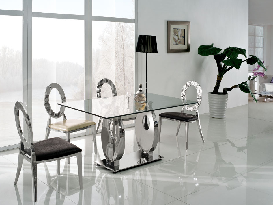 Dining Room Modern Glass Dining Table Extending Glass Table And With Well Known Dining Room Glass Tables Sets (View 9 of 20)
