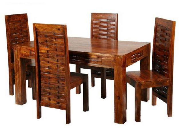 Dining Room Wooden Furniture Sets Within Latest Indian Dining Tables And Chairs (Gallery 4 of 20)