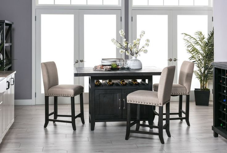 Dining Rooms, Dining Room With Regard To Weaver Dark 7 Piece Dining Sets With Alexa White Side Chairs (View 5 of 20)