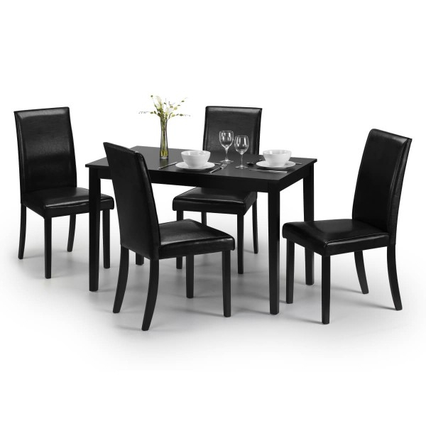 Dining Set – Hudson Dining Table And 4 Chairs In Black Hud006 Inside Popular Hudson Dining Tables And Chairs (View 7 of 20)
