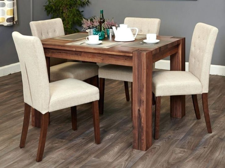 Dining Set With Chairs Of 4 Target 8 Vintage 3 Baumhaus Shiro Walnut Pertaining To Fashionable Norwood 9 Piece Rectangular Extension Dining Sets With Uph Side Chairs (View 14 of 20)