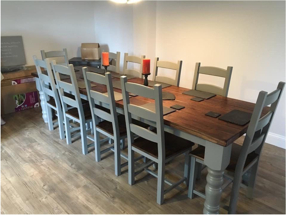 Dining Table And 10 Chairs For Well Known Incredible Large Dining Table And Chairs Uk Table Design Handmade (View 11 of 20)