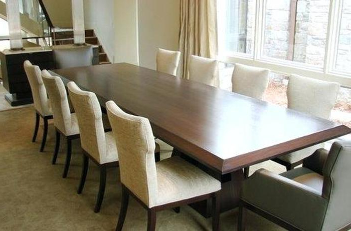 Dining Table And 10 Chairs Within Popular (View 9 of 20)
