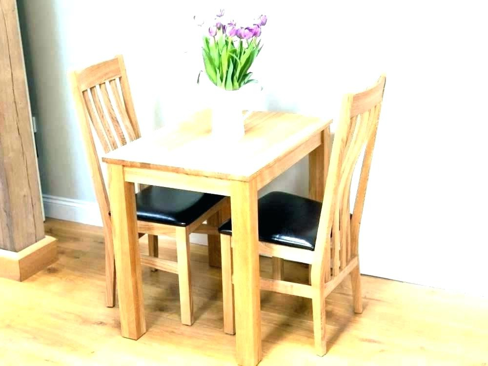 Dining Table And 2 Chairs Breakfast Set Absolutely Smart Small With Regard To Most Recent Small Dining Tables For  (View 4 of 20)
