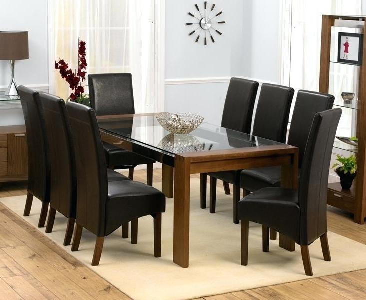 Dining Table And 8 Chairs 8 Seat Dining Room Set Dining Table With 8 Throughout Most Popular 8 Chairs Dining Sets (View 7 of 20)