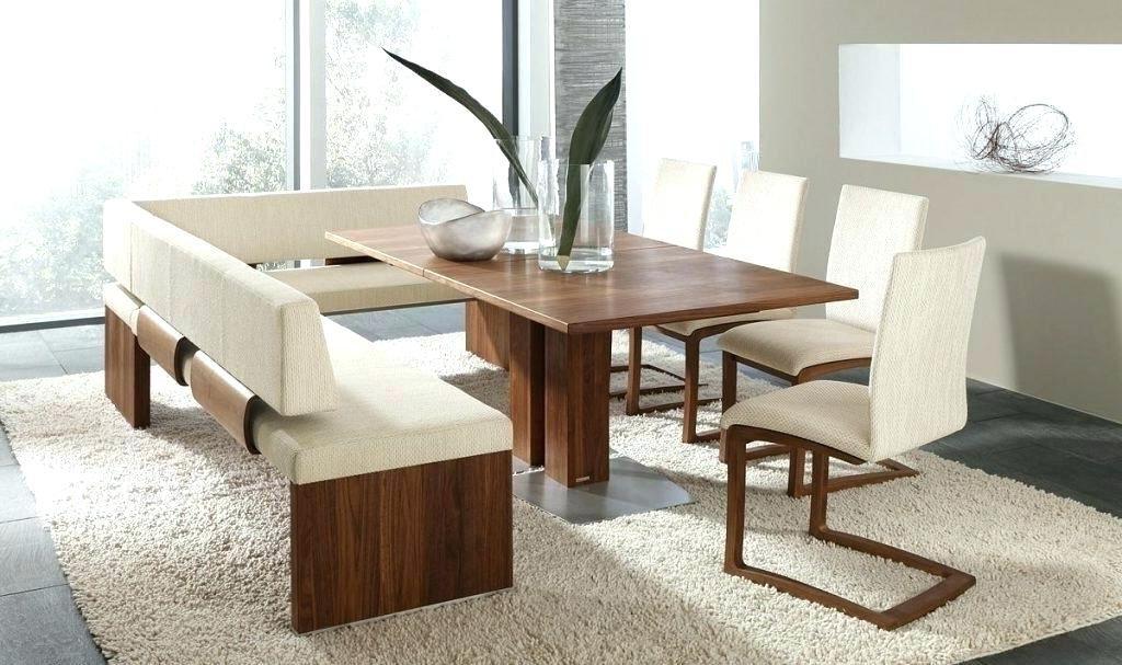 Dining Table Bench With Back Dining Tables With Benches Dining Table For 2017 Bench With Back For Dining Tables (View 6 of 20)