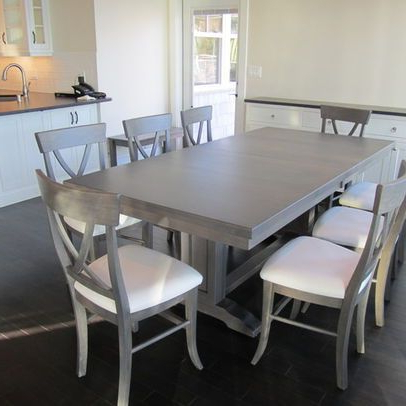 Dining Table In Maple With Driftwood Grey Stain (View 3 of 20)