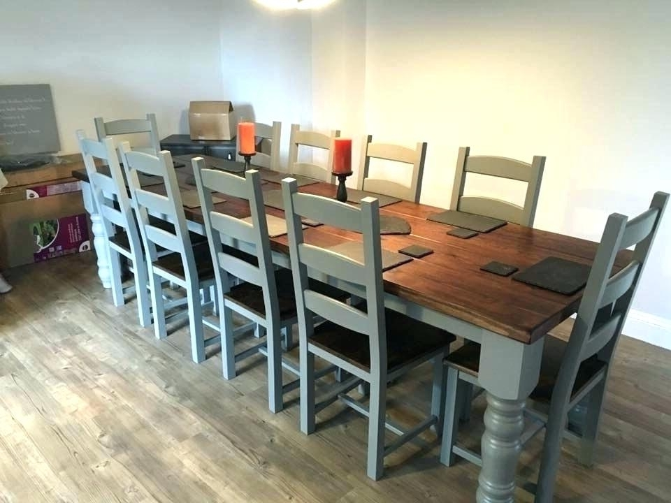 Dining Table Made Of In 10 Seater New Zealand – Ugears For Current 10 Seater Dining Tables And Chairs (View 12 of 20)
