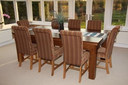 Dining Table Pool Tables Uk Manufacturer Oak, Walnut, Teak,ash Or Cherry Intended For Most Up To Date 8 Seater Oak Dining Tables (View 20 of 20)