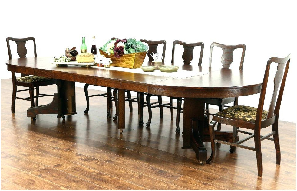 Dining Table Sears Round Dining Table Sets Room Mission Kitchen With Regard To Fashionable Craftsman Round Dining Tables (View 18 of 20)