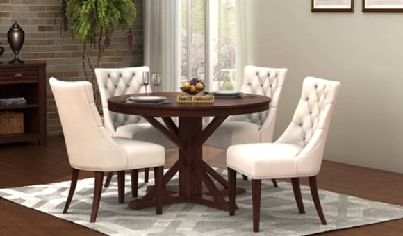 Dining Table Sets: Buy Wooden Dining Table Set Online @ Low Price Regarding Widely Used Cheap Dining Room Chairs (View 11 of 20)