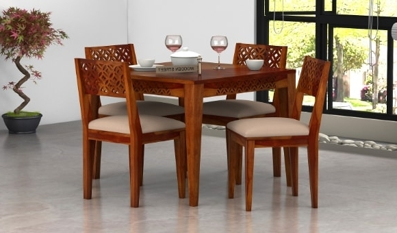 Dining Table Sets: Buy Wooden Dining Table Set Online @ Low Price With Best And Newest Cheap Dining Tables And Chairs (View 2 of 20)