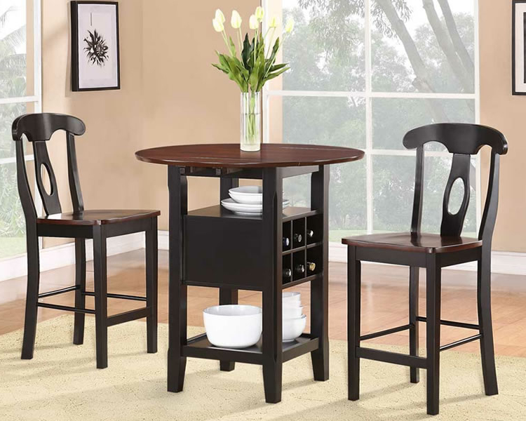 Dining Table Sets For 2 For Well Known Merry Round Dining Table Set For 2 Glamorous Small With Regard To (View 3 of 20)